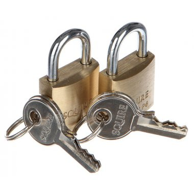 Squire Brass Padlock Short Shackle Pack of 2 Padlocks