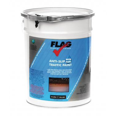 Traffic Water Based Paint 5 Litre Yellow  Paint