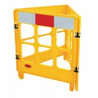 3-Gated Workgate Barrier Yellow  Car Park Barriers