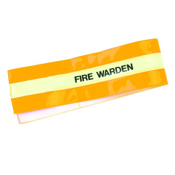 High-Vis Armband Fire Warden Yellow Low