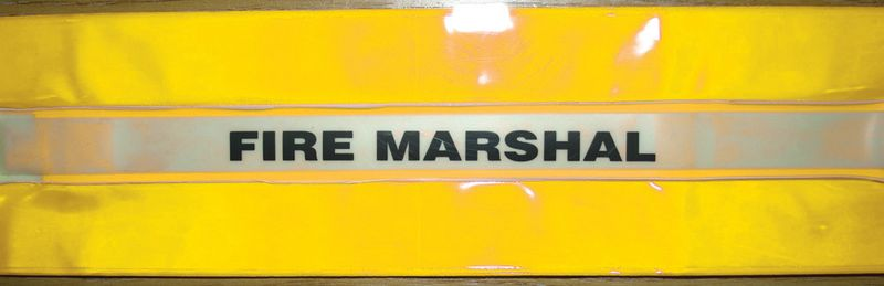 High-Vis Fire Marshal Armband Yellow Low