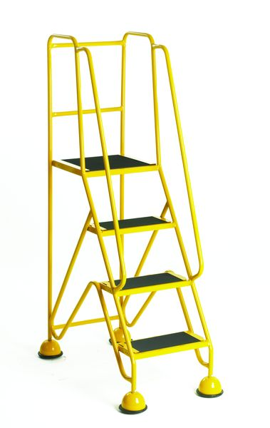 4 Step Mobile Steps Yellow Low Steps