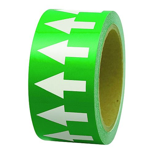 Arrows On-A-Roll Vinyl Tape Green / Black Tapes