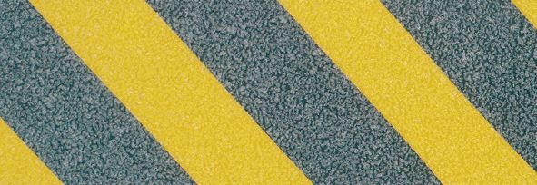 Anti Slip Plate 635 x 115 Alu Black / Yellow