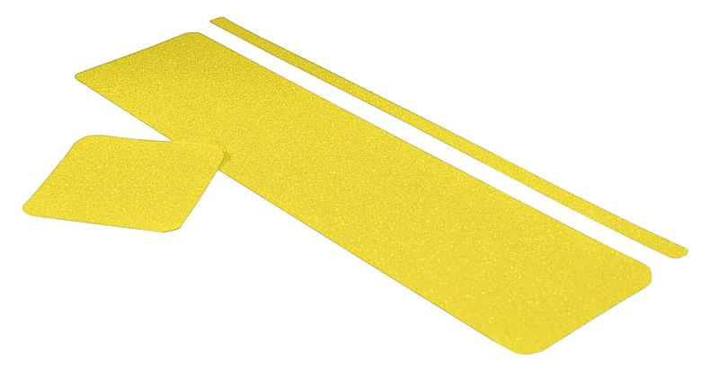 Roll Mounted Antiskid Yellow Low 100 mm x 18M
