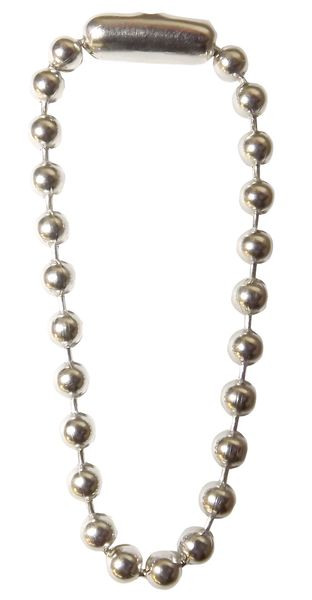 Beaded Link Chain L114 mm Nickel Pack of 100