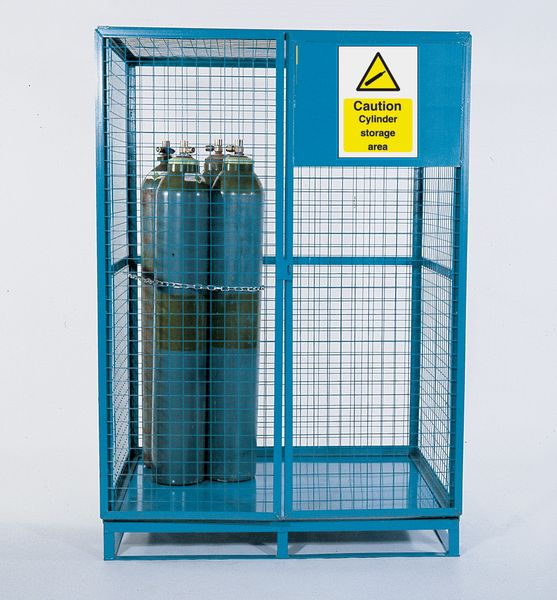 1360 x 1715 x 1990 mm Cylinder Cage - Blue Cages