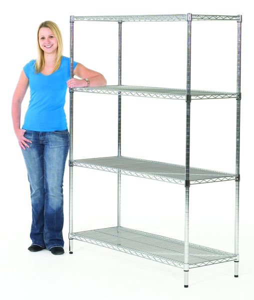 Chrome Wire Shelving Height 900mm x Width 460 x D 460 mm  Shelving