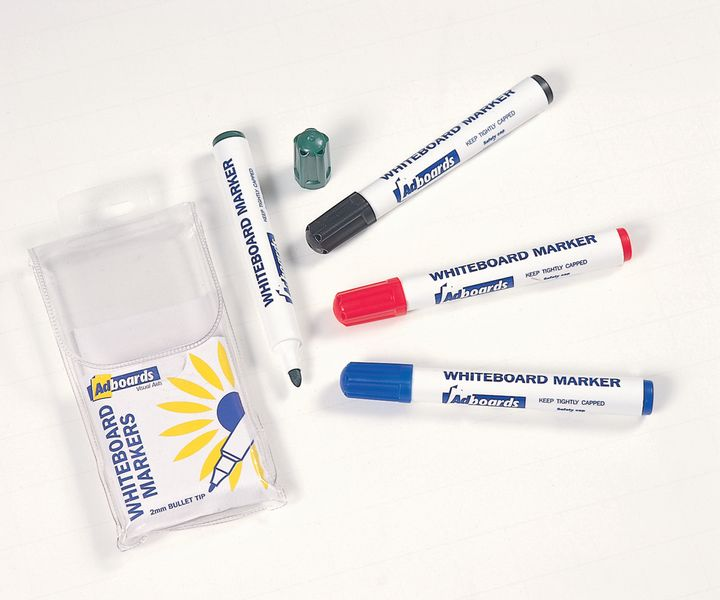 Whiteboard Markers Assorted Pack of 4 White Boards