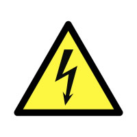 25 x 25 mm Roll of 250 Beware Electricity Safety Labels