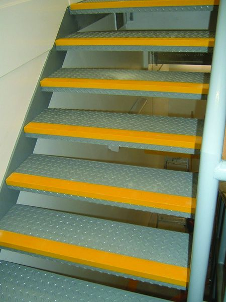 55 x 750 x 55 mm Yellow Low Nosing (Single) For Stairs