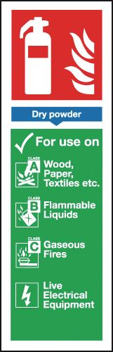 300 x 100 mm Dry Powder Extinguisher For Use Safety Signs