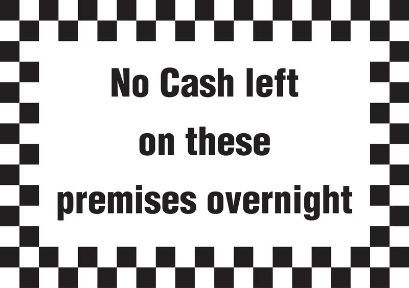 A5 No Cash Left On Premises