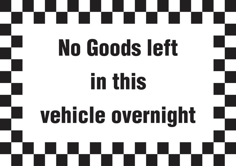 A5 No Goods Left In Vehicle