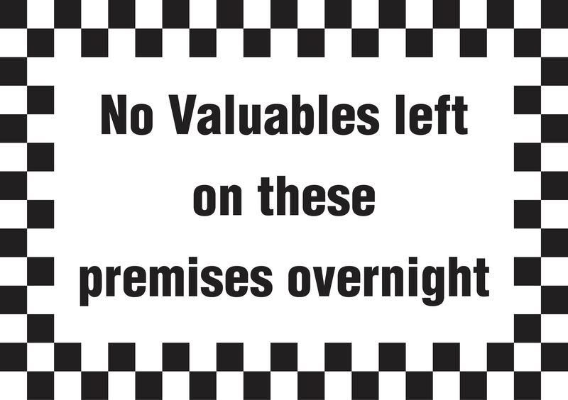 A5 No Valuables Left On Premises