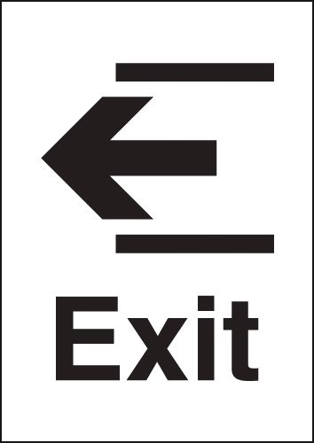 A4 Exit Left Silver Effect Safety Signs