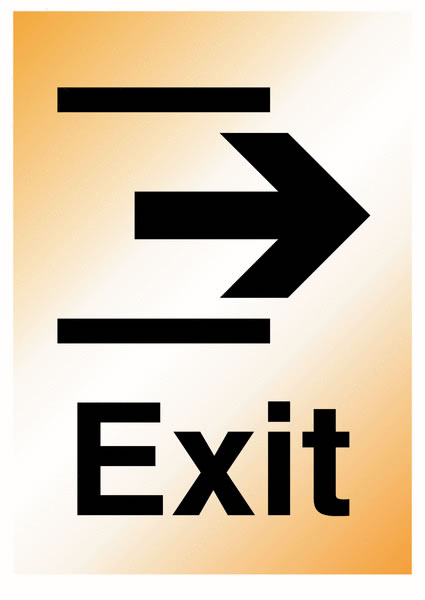 A5 Exit Right Silver Effect