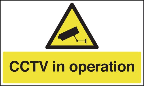 50 x 100 mm Cctv In Operation Safety Labels
