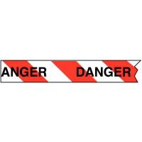 Heavy Duty Barricade Tape Danger Red / White Tapes