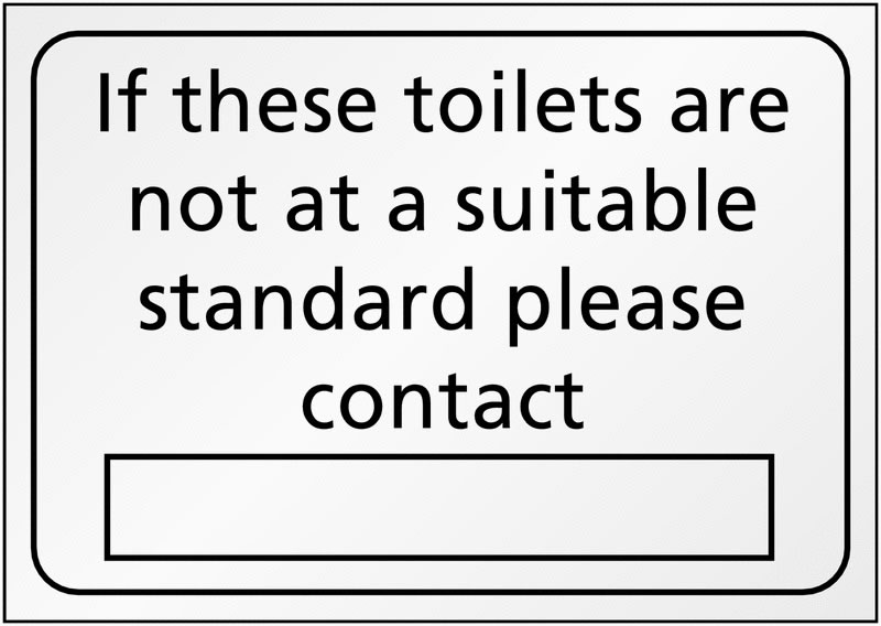 A5 If These Toilets Are Not A Suitable Safety Labels