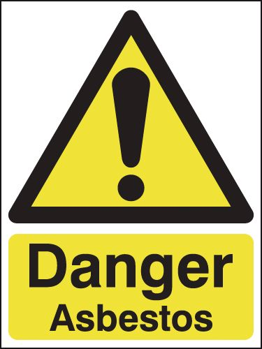 100 x 75 mm Danger Asbestos Safety Signs