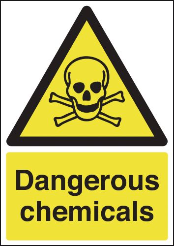 A5 Dangerous Chemicals Safety Signs