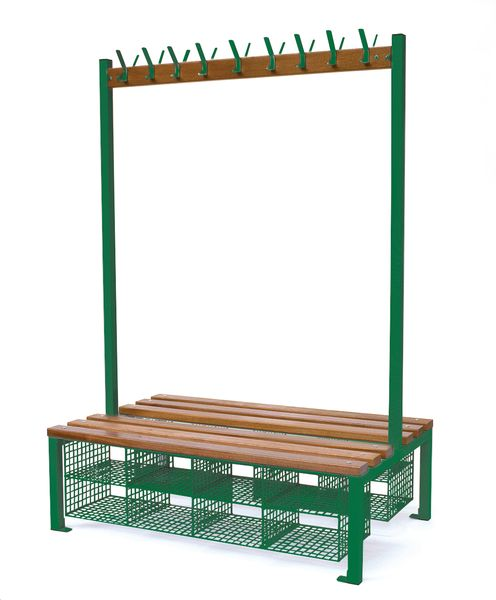 18H Double Sided Seating Shoe Basket Green Seat