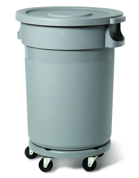 80 Litre Round Container - No Lid Grey Storage Containers