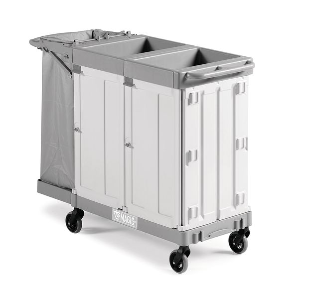 Hotel Cleaning Trolley Lockable Cleaners