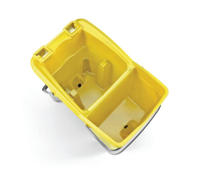 Double Bucket With Wringer Yellow Low Buckets