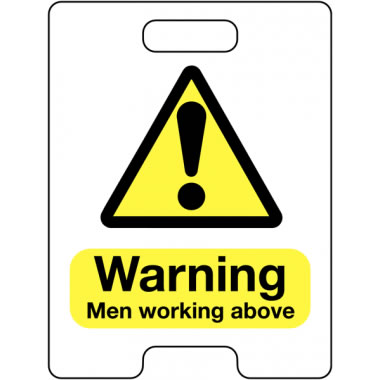 600 x 450 mm Warning Men Working Above Safety Signs