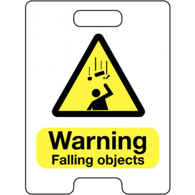 600 x 450 mm Warning Falling Objects Safety Signs
