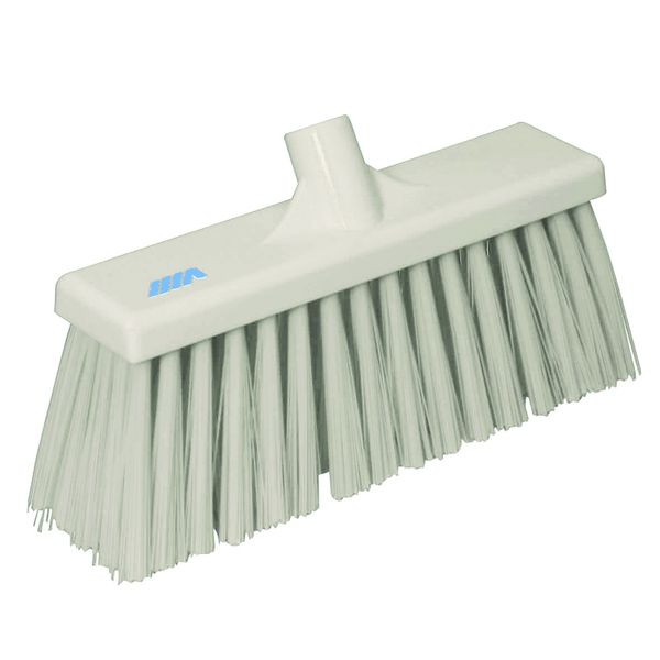 Stiff Broom White 12 Inch