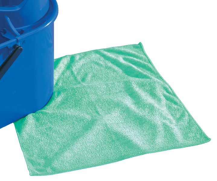 Microfibre Cleaning Cloths Green Pack of 40 Cleaners
