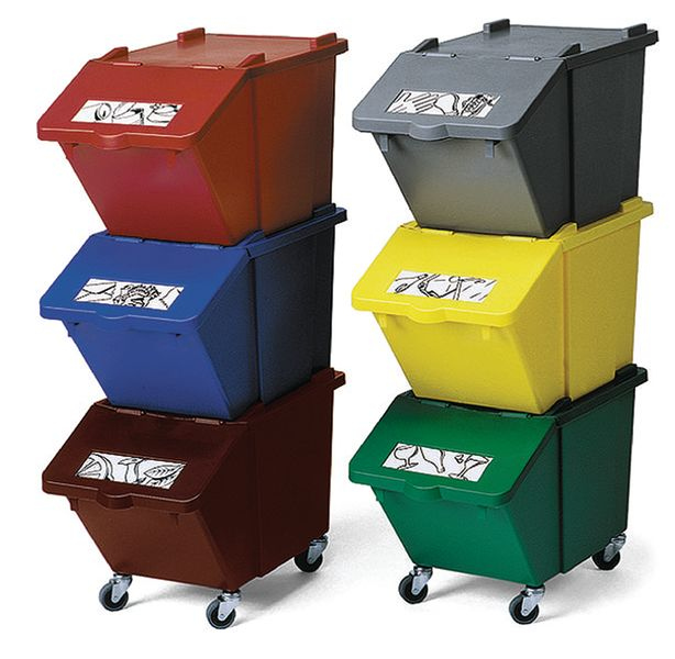 Stackable Recycling Box 45 Litre Green