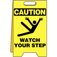 Floor Stand-C-Watch Your Step Flooring