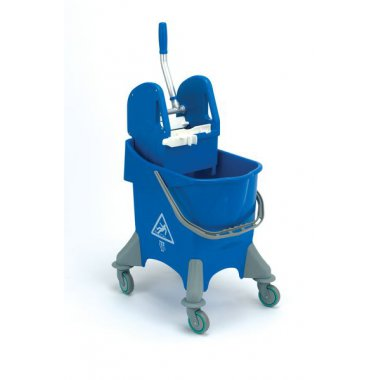 Wheeled Bucket With Wringer Blue 30 Litre Buckets