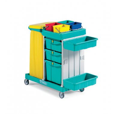 Multi Compartment Tray And Bag Trolley Trolley