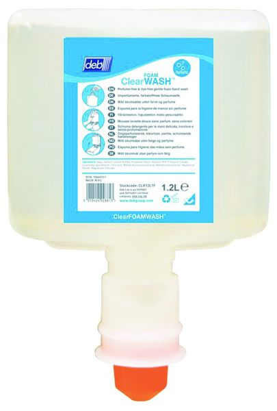 Clear Foam Wash 1.2 Litre Pack of 3