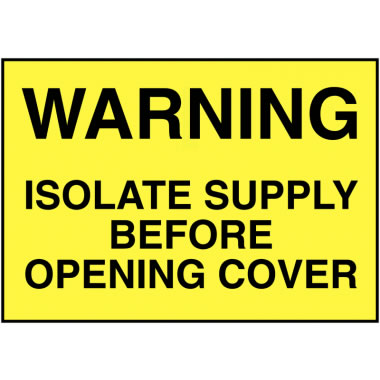 32 x 51 mm Pack of 5 Warning Isolate Supply Before Safety Labels