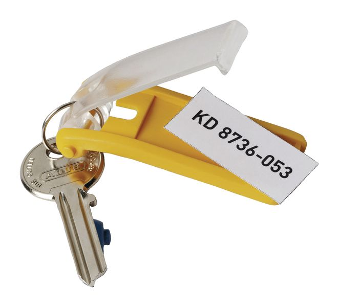 Pack of 6 Key Fobs (Yellow)
