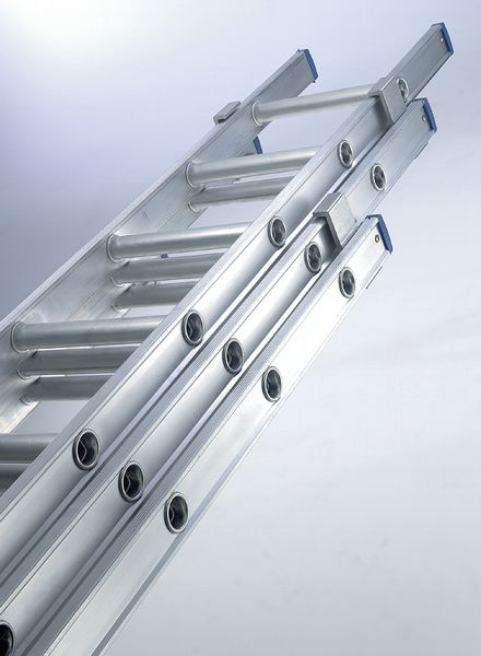 Heavy Duty Dual Push-Up Ladder 11 Rungs Ladders