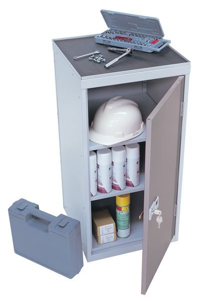 Tool Locker With Rubber Top Grey Lockers