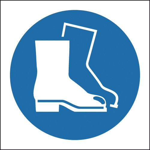 150 x 150 mm Boots (Symbols) Safety Labels