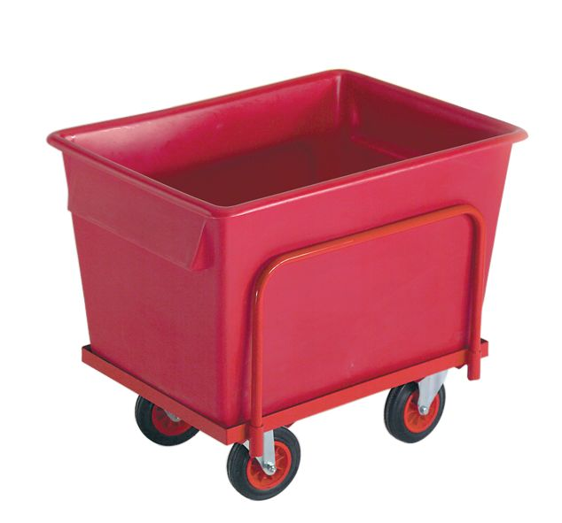 Truck With Container 250 Kg Red Storage Containers
