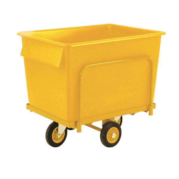 Truck With Container 250 Kg Yellow Low Storage Containers
