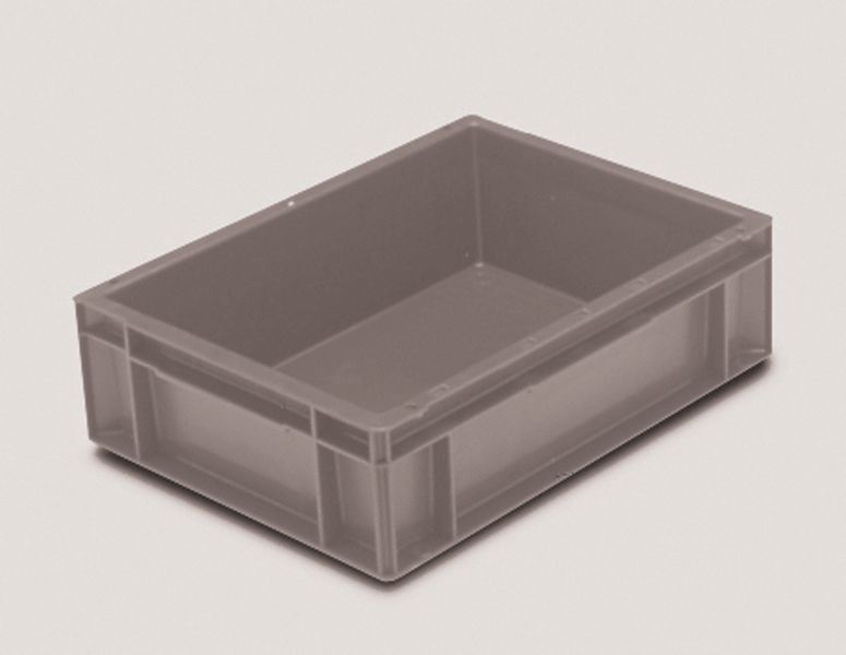 Extra Small Euro Container Solid 10 Litre Grey Storage Containers