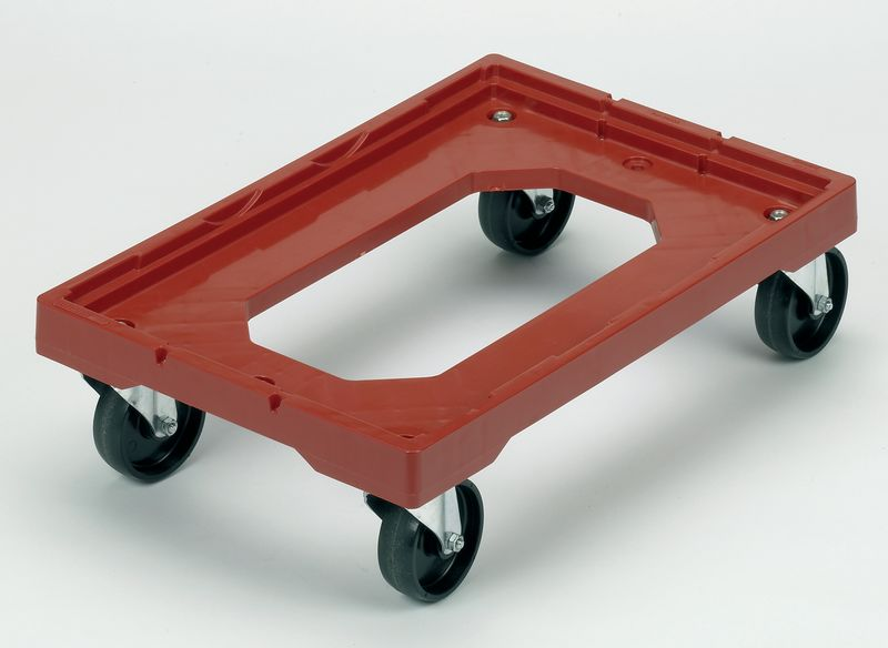Red Plastic Container Dolly Storage Containers