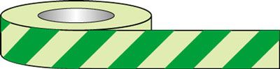 Photoluminescent Floor Tape Green Chevron 50mm x 10M Tapes