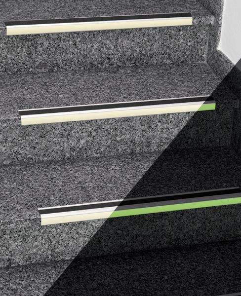 Antislip Stair Nosing Alu Phtlm Black For Stairs